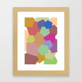 Colliding Colors Framed Art Print