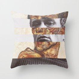 Egon Schiele's Self Portrait with Bare Shoulder & James D. Throw Pillow