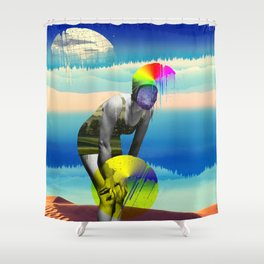 Mrs. Flubber Shower Curtain