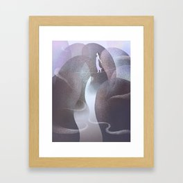 The Kidney-shaped Stone That Moved Every Day Framed Art Print