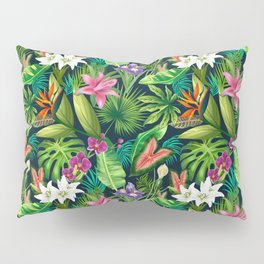 Tropical Lush Sanctuary, A Bohemian Paradise Pillow Sham