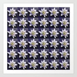 flower and nature - blue flower 3 Art Print
