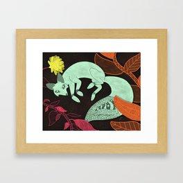 Turquoise Fox Framed Art Print