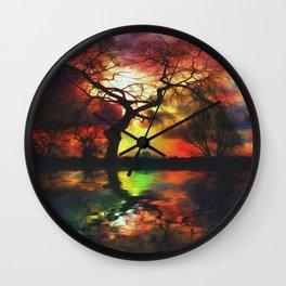 Stillwater Sunrise Wall Clock
