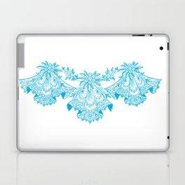 Vintage Lace Blue Hankies Laptop & iPad Skin