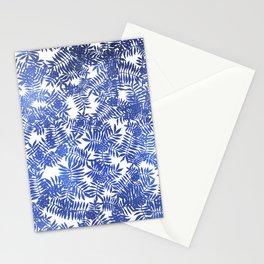 Rowan/ Mountain Ash - Blue metallic on white Stationery Cards