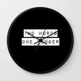 I'll Show You My Finger Wall Clock