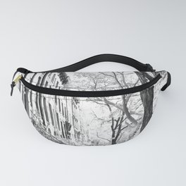 Cobble Hill Brooklyn Winter Black and White Brownstone Fanny Pack
