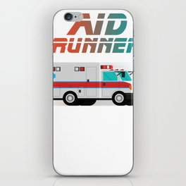 Funny Ambulance Shirt - Aid Runner Rescuer Gift iPhone Skin