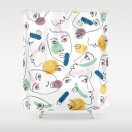 Female Portraits #society6 #figurative Shower Curtain