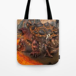 Lava Turtle Tote Bag