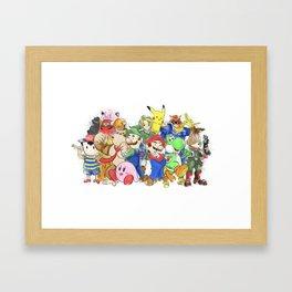 Super Smash Brothers 64 Framed Art Print