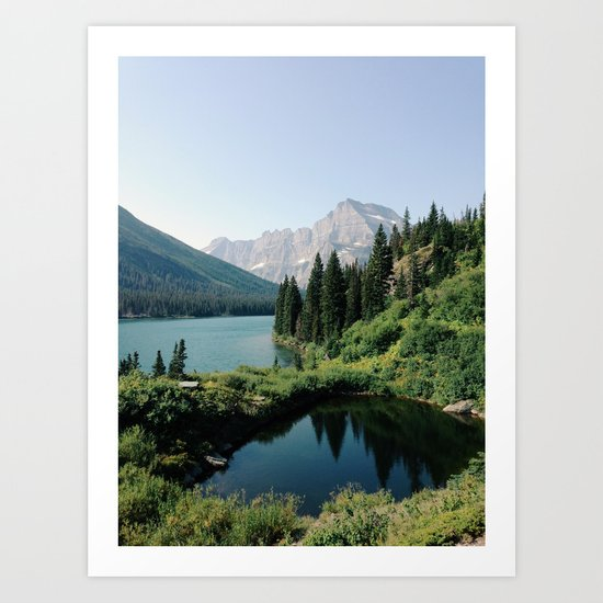 Lake Josephine, Glacier National Park Art Print