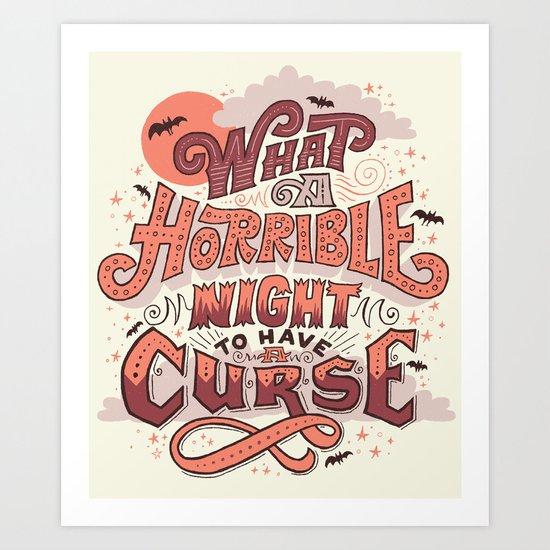 Curse Art Print