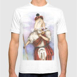 Scottish Smoking Sheep  T-shirt