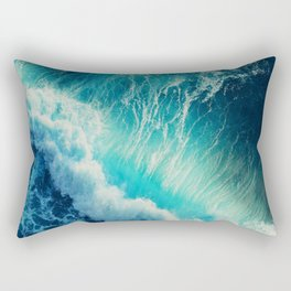 Waving Blue Rectangular Pillow