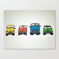 cars Canvas Prints featuring Cars by Sol Fernandez