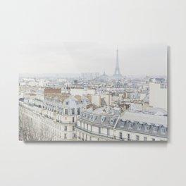 Paris Greys Metal Print