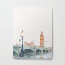 Thames Sunrise - London England Travel Photography Metal Print