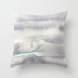 Stormy Weather with Blue Sky Throw Pillow