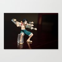 luffy Canvas Prints featuring Luffy boxing by Michaëlis Moshe