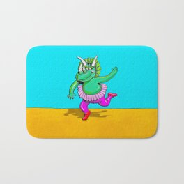 Sugarplum Triceratops Bath Mat