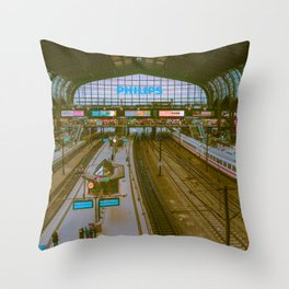 Railway / Hamburg / Bladerunner Vibes Throw Pillow