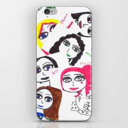 Character collage iPhone Skin