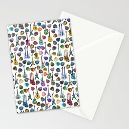 Guitars and Picks Stationery Cards
