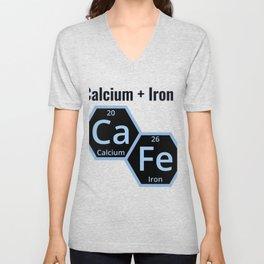 Calcium + Iron Ca Fe Unisex V-Neck