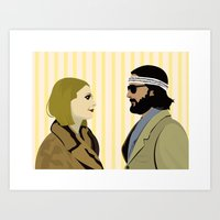 the royal tenenbaums Art Prints featuring The royal Tenenbaums by Little cabin on the hill