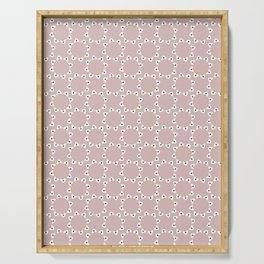 White Daisies Allover Style Seamless Pattern Serving Tray
