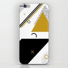 Memphis gold iPhone & iPod Skin