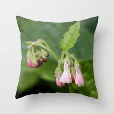 Pink Drops Throw Pillow
