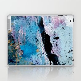 Breathe [3]: colorful abstract in black, blue, purple, gold and white Laptop & iPad Skin