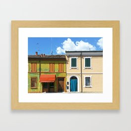Italian house Framed Art Print