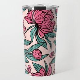 Sketchy Flowers Travel Mug