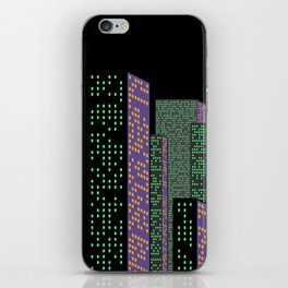 City Skyline at Night iPhone Skin