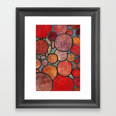 Colorful Abstract Stones  Framed Art Print