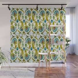 indian cucumbers balinese ikat print mini Wall Mural