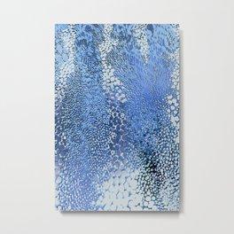 gush of dots in blue Metal Print