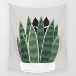 Cat and Plant 22: Sneak Plant Wall Tapestry