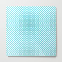 Polka Dots Pattern-Blue Metal Print