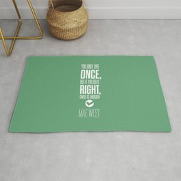 Lab No. 4 - Inspirational Mae West Life Quote Print Quotes Poster Rug
