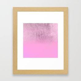 Elegant blush pink lavender gold gradient Framed Art Print