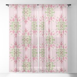 Wild plant pattern 3a Sheer Curtain