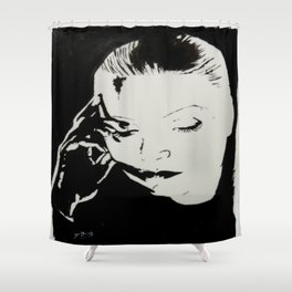 Greta Garbo Shower Curtain