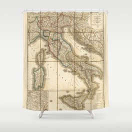 Map of Italy (1851) Shower Curtain
