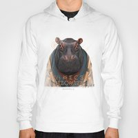 hippo Hoodies featuring Hippo by iacolarepierre