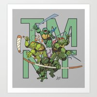 tmnt Art Prints featuring TMNT by Ryan Liebe